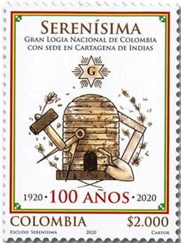 n° 2100 - Timbre COLOMBIE Poste