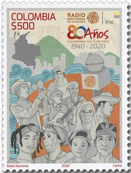 n° 2183 - Timbre COLOMBIE Poste