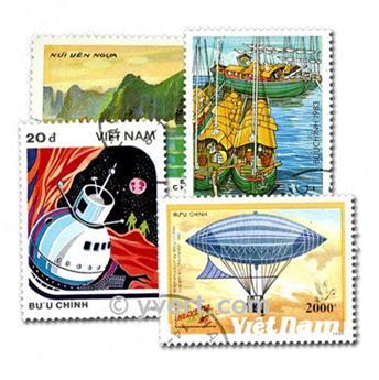 VIETNAM: envelope of 100 stamps
