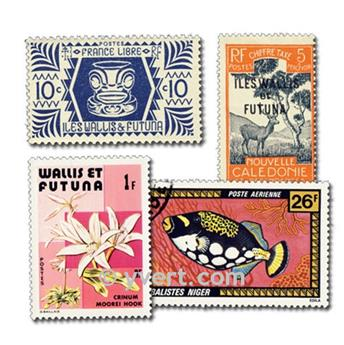 WALLIS E FUTUNA: lote de 100 selos