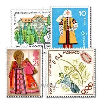 EUROPE : pochette de 3000 timbres