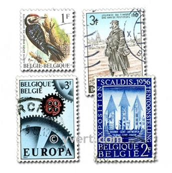 BÉLGICA: lote de 500 sellos