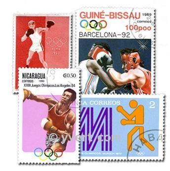 BOXE : pochette de 50 timbres