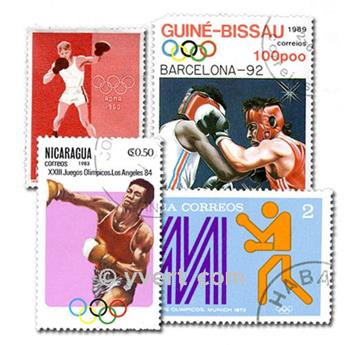 BOXING: envelope of 50 stamps