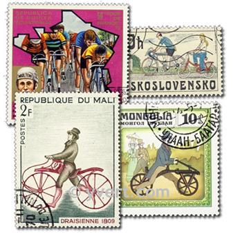 CYCLING: envelope of 100 stamps