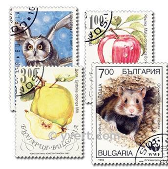 BULGARIE : pochette de 100 timbres