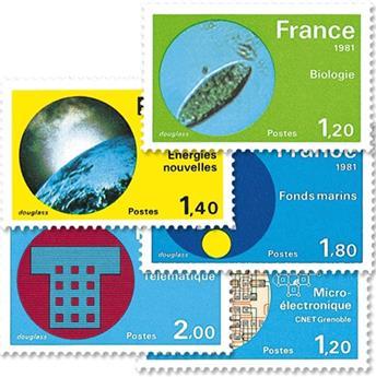 n.o 2126 / 2130 -  Sello Francia Correos