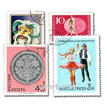 HUNGARY: envelope of 500 stamps