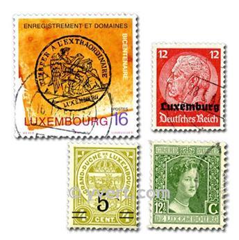 LUXEMBURGO: lote de 100 sellos
