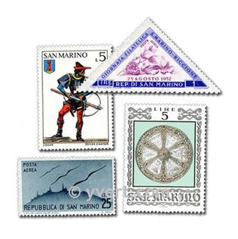 SÃO MARINHO: lote de 100 selos