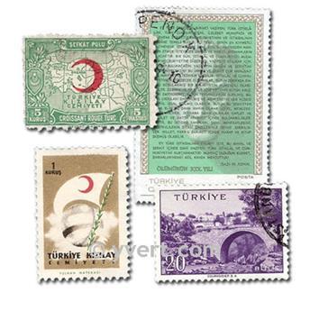 TURQUIE : pochette de 200 timbres