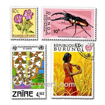 POSESIONES BELGAS: lote de 100 sellos