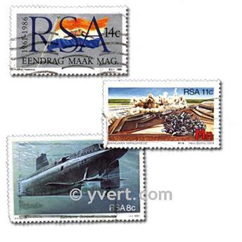 SUDÁFRICA: lote de 200 sellos