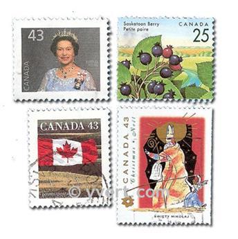 CANADA : pochette de 300 timbres