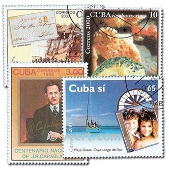 CUBA : pochette de 200 timbres