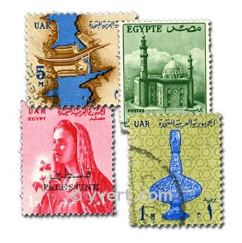 EGYPTE : pochette de 100 timbres