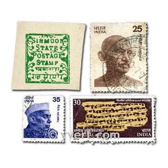 ÍNDIAS: lote de 300 selos
