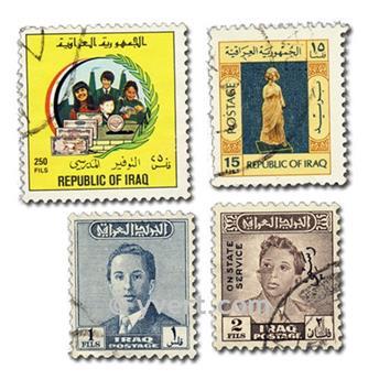 IRAK : pochette de 100 timbres
