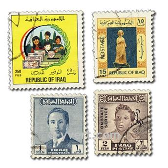IRAQ: envelope of 100 stamps