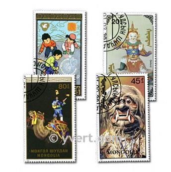 MONGOLIE : pochette de 500 timbres