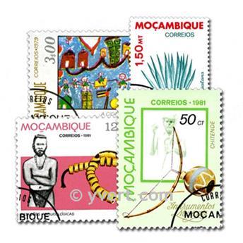 MOZAMBIQUE : pochette de 100 timbres
