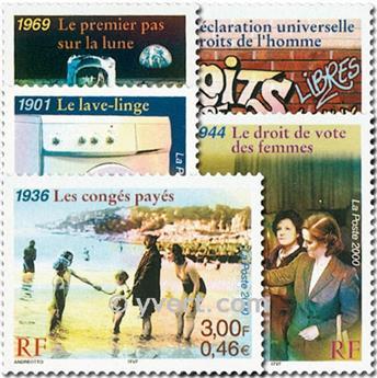 n° 3351/3355 -  Selo França Correios