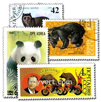 OURS : pochette de 50 timbres