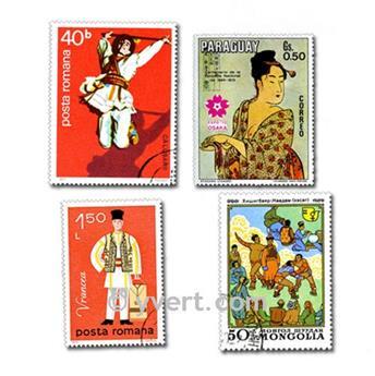 TRAJES: lote de 200 selos