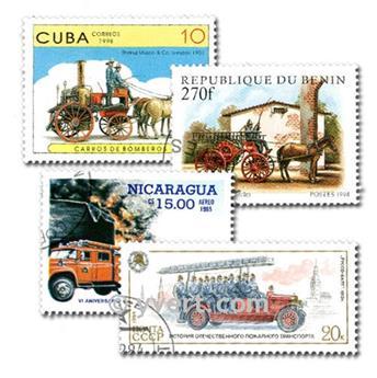 POMPIERS : pochette de 50 timbres