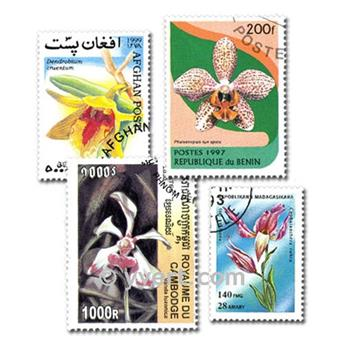 ORCHIDEES : pochette de 50 timbres