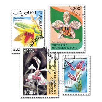 ORQUÍDEAS: lote de 50 sellos