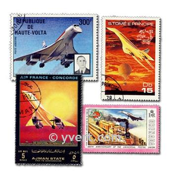CONCORDE: envelope of 25 stamps