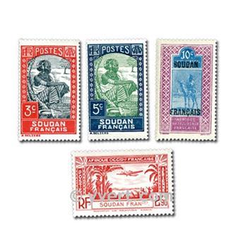 SUDÁN FRANCÉS: lote de 25 sellos