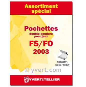 Assortiment de pochettes (double soudure) : 2003