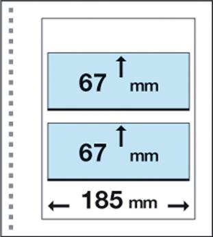 Recharges CK8 : 2 bandes (67x185mm)