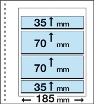Recharges CK22 : 4 bandes (2x70x185mm et 2x35x185mm)