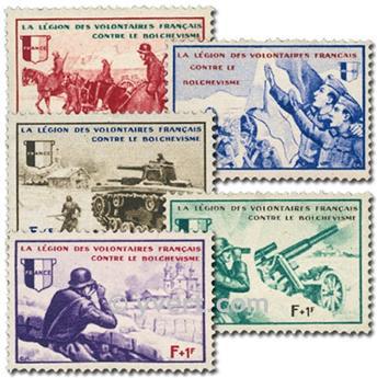 n.o 6 / 10 -  Sello Francia Legión de voluntarios franceses contra el bolchevismo