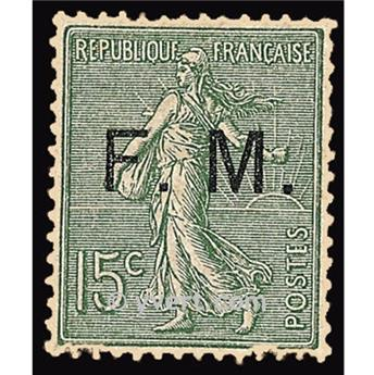 n° 3 -  Selo França Franquia postal