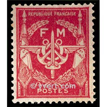 n° 12 -  Selo França Franquia postal