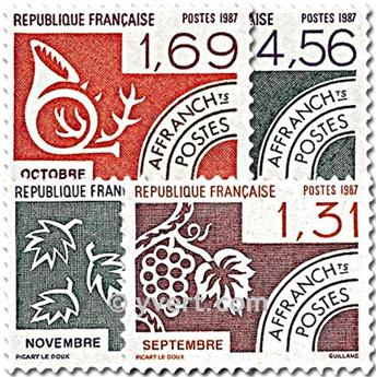 n° 194/197 -  Selo França Pré-obliterados