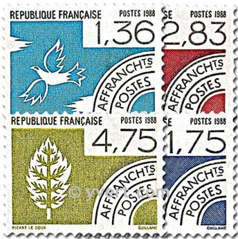 n° 198/201 -  Selo França Pré-obliterados