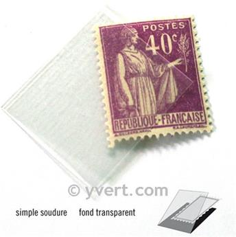 Pochettes simple soudure - Lxh:20x26mm (Fond transparent)