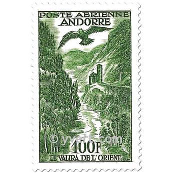 n° 2/4 -  Timbre Andorre Poste aérienne