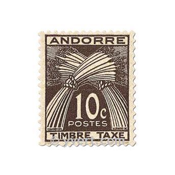 n° 32/41 -  Selo Andorra Taxa