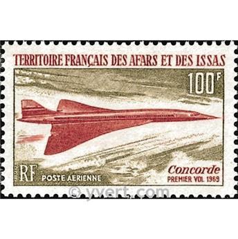 n° 60 -  Selo Afars e Issas Correio aéreo