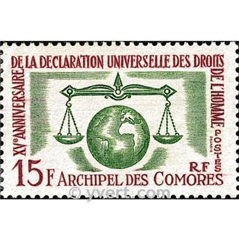 n° 28 -  Timbre Comores Poste