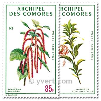 n° 37/38 -  Selo Comores Correio aéreo