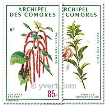 n° 37/38 -  Timbre Comores Poste aérienne