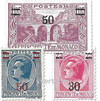 n.o 104/110 -  Sello Mónaco Correos