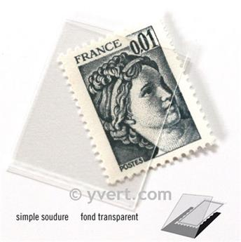Pochettes simple soudure - Lxh:24x20mm (Fond transparent)